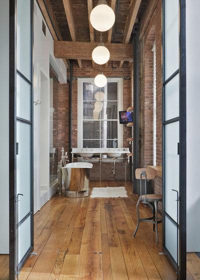 Industrial Bathroom by Jane Kim Design