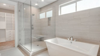 Free standing tub with Custom walk in shower