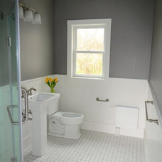 Beach Style Bathroom by STRAIGHT TO FINISH, LLC