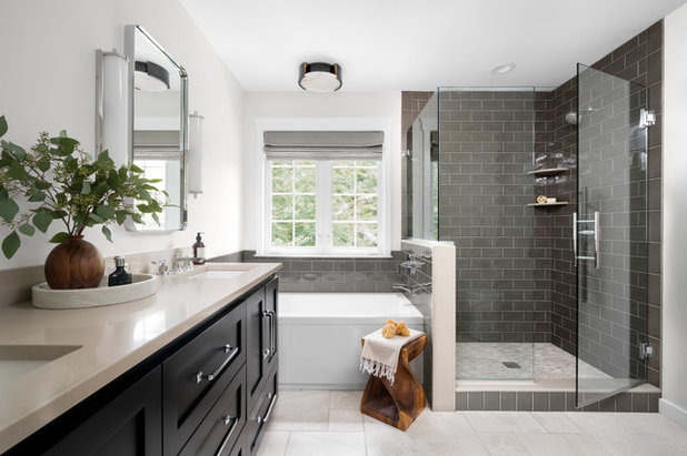 Transitional Bathroom by Liza Nicole Interiors