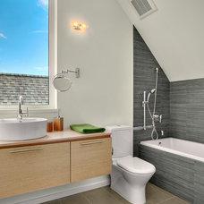 Contemporary Bathroom by Caron Architecture