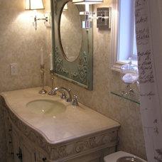 Traditional Bathroom by Lina Crawford Interior Design