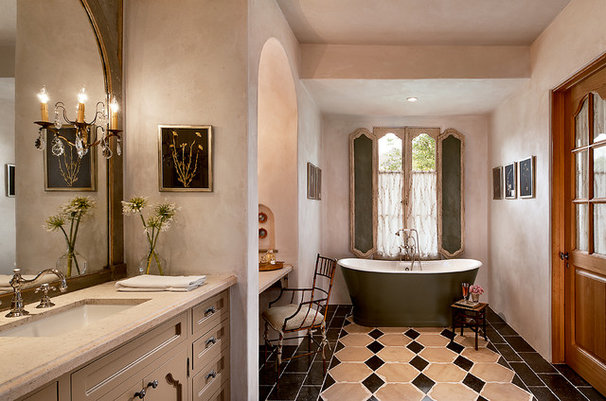 Mediterranean Bathroom by Higgins Architects