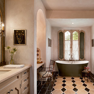 Inspiration for a french country freestanding bathtub remodel in Phoenix
