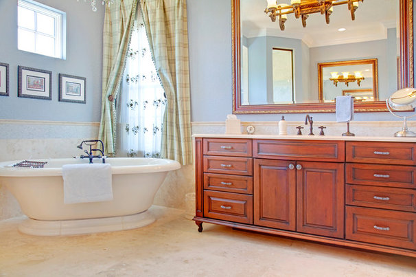 Mediterranean Bathroom by Sunscape Homes, Inc