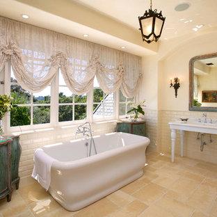 Bathroom - french country bathroom idea in Santa Barbara