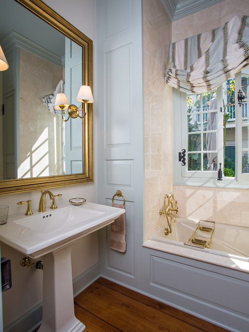 Inspiration for a timeless bathroom remodel in New Orleans with a pedestal  sinkWall Trim Molding Bathroom Ideas  Designs   Remodel Photos   Houzz. Elegant Bathrooms Aberdeen. Home Design Ideas