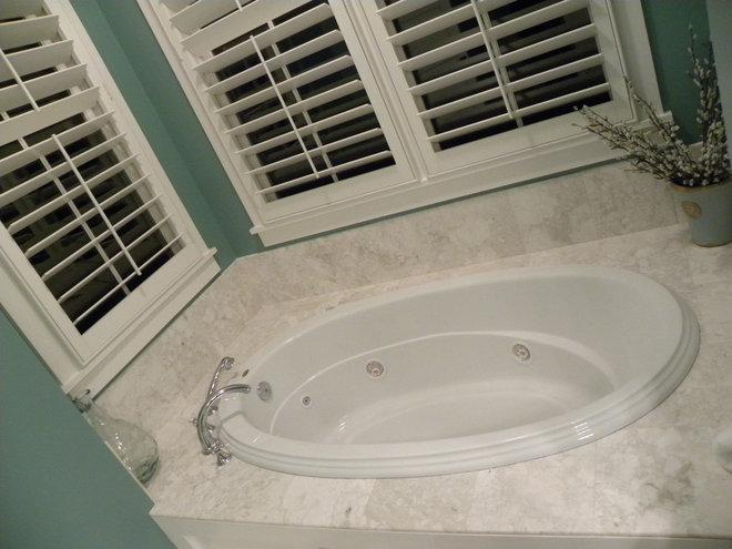 Tropical Bathroom by Tile & Stone Design Studio