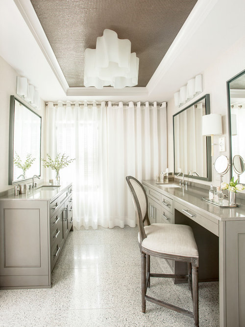 Mid Sized Elegant Master Brown Tile And Mosaic Tile Bathroom Photo In  Atlanta With An
