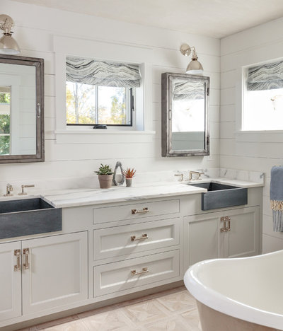 Farmhouse Bathroom by Jess Cooney Interiors