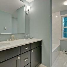 Contemporary Bathroom by CliqStudios Cabinets