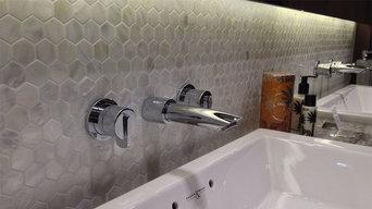 Freshwater Bianco Hexagon Mosaic Tile
