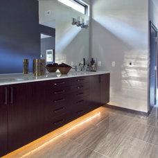 Modern Bathroom by Dark Horse Woodworks