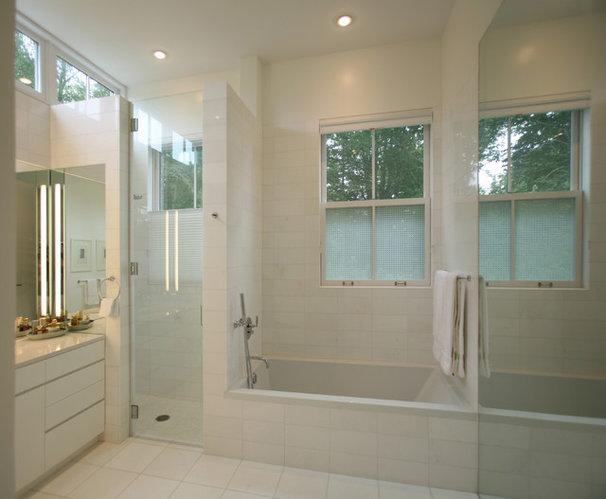 Transitional Bathroom by Sarah Jefferys Design