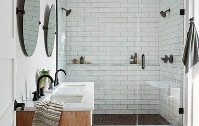Bathroom of the Week: A New Master Bath in Black and White