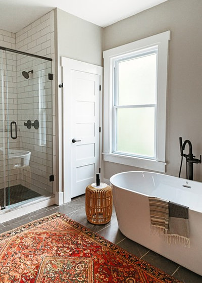 Bathroom Of The Week A New Master Bath In Black And White