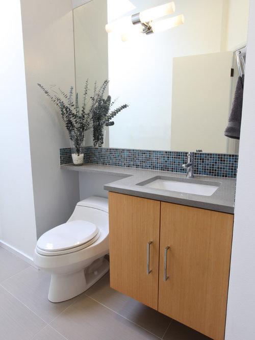 salle d 39 eau r tro de taille moyenne photos et id es d co de salles d 39 eau. Black Bedroom Furniture Sets. Home Design Ideas