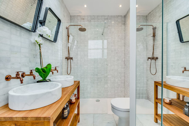 Transitional Bathroom by Burbeck Interiors ltd