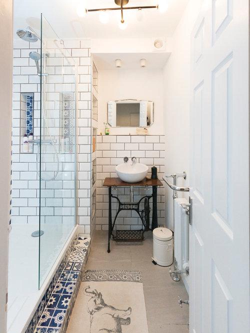 mediterrane badezimmer mit blauen fliesen ideen design bilder houzz. Black Bedroom Furniture Sets. Home Design Ideas