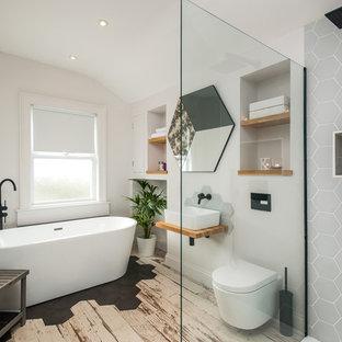 Salle de bain avec un placard sans porte : Photos et idées ...