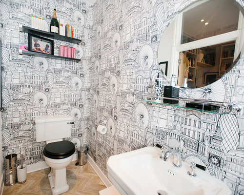 Quirky wallpaper houzz for Quirky bathroom designs