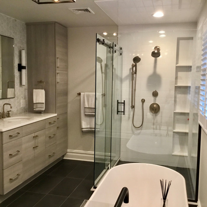 Fun Modern Master Bathroom