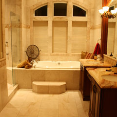 traditional bathroom by Artistic Stone Design