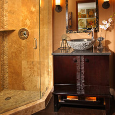 Asian Bathroom by Christine Diveley Interior Design