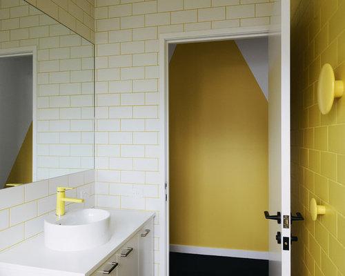 Piastrelle bagno gialle idee bagno piastrelle con il giallo e