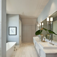 Transitional Bathroom by Naples ReDevelopment, Inc.