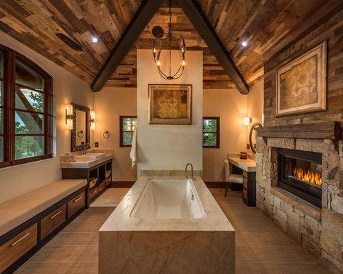 Badezimmer Rustikal - Design