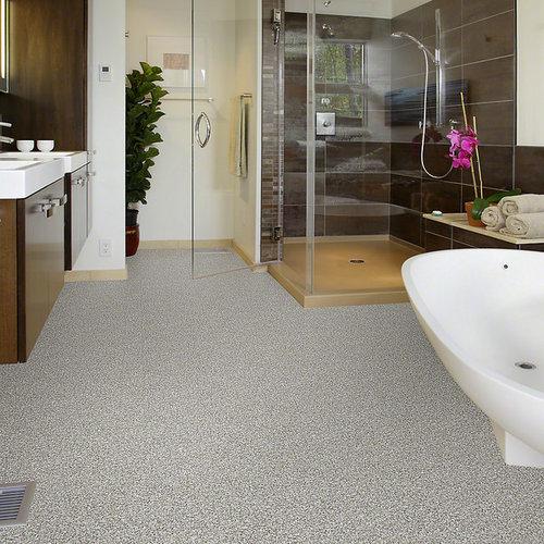 black and white tile floor bathroom design ideas