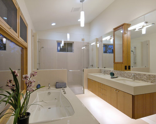 Dual vanity ideas pictures remodel and decor for Idee deco salle de bain zen