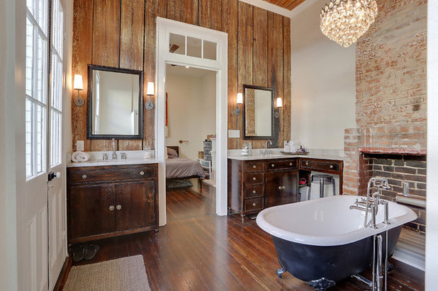 Vintage Transitional Bathroom by MLM INCORPORATED
