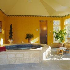 Mediterranean Bathroom by TreHus Architects+Interior Designers+Builders