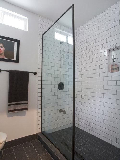 black shower frame ideas pictures remodel and decor. Black Bedroom Furniture Sets. Home Design Ideas