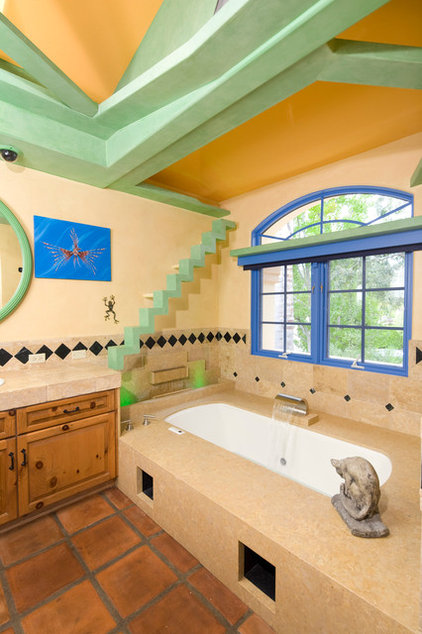 eclectic bathroom by Trillium Enterprises, INC.