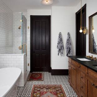 Inspiration för eklektiska badrum