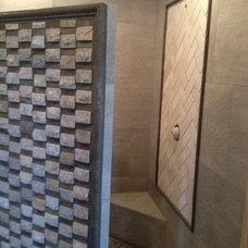 Traditional Bathroom by AMC Custom Tile