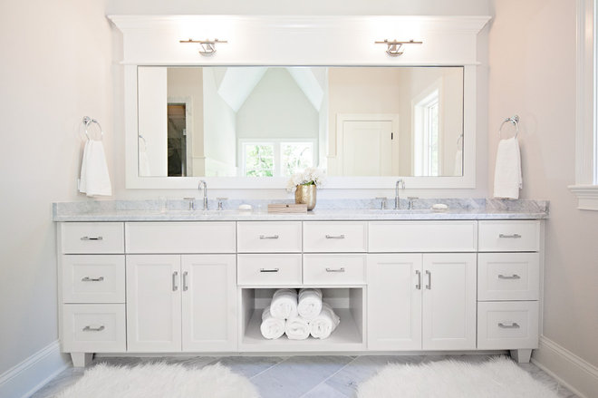 Transitional Bathroom by Oakley Home Builders