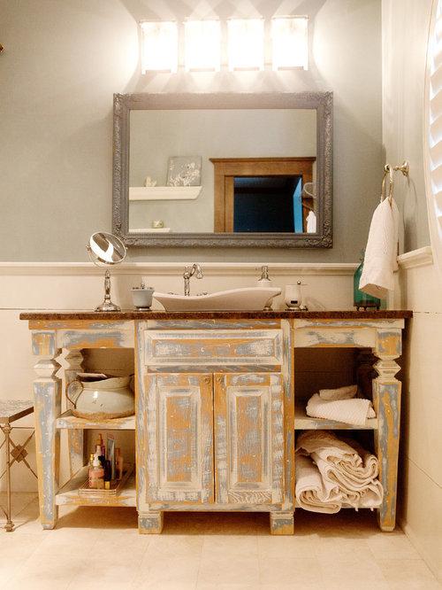 shabby chic style badezimmer mit metrofliesen design ideen beispiele f r die badgestaltung. Black Bedroom Furniture Sets. Home Design Ideas