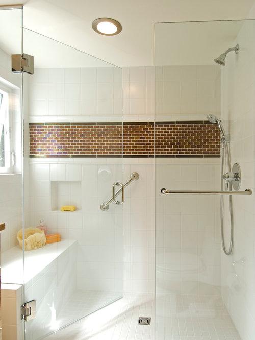 White Square Shower Tile