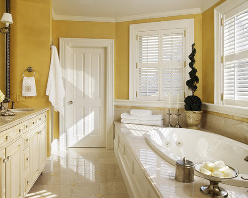 Yellow bathrooms houzz - Idees deco salle de bain ...