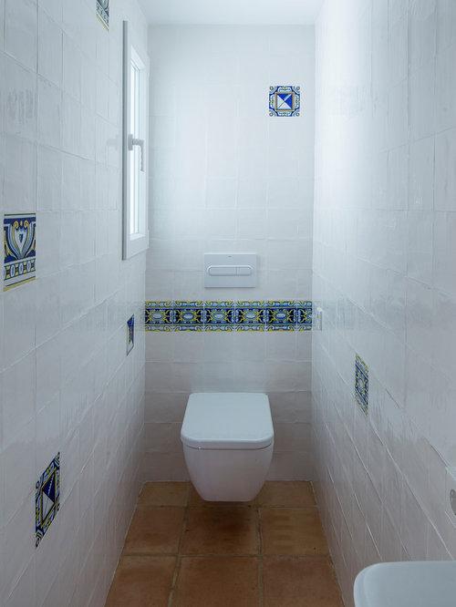 Small bathroom design ideas renovations photos with for Small mediterranean bathroom