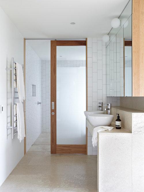 Sliding Bathroom Doors Interior sliding bathroom door | houzz