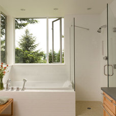 Modern Bathroom by Brett Webber Architects, PC