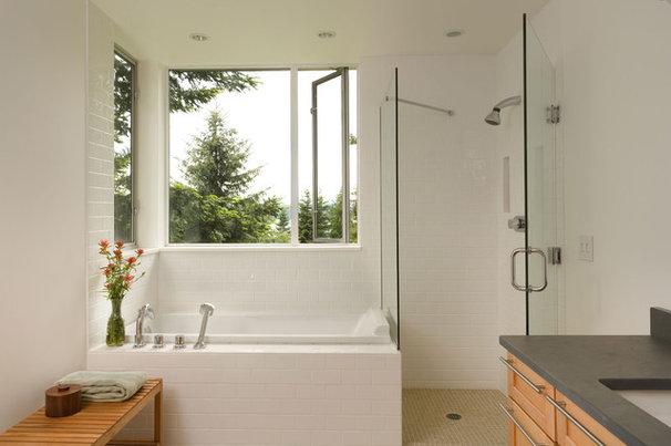 Modern Bathroom by Brett Webber Architects, PC