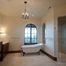 Mediterranean Bathroom by dC Fine Homes & Interiors