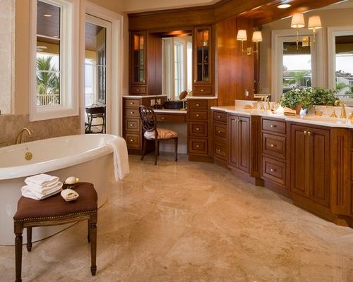 interesting double sink bathroom vanity makeup area   Double Sink Makeup Vanity   Houzz
