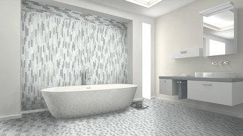 Geo Monte Sagro White and Gray Bathroom